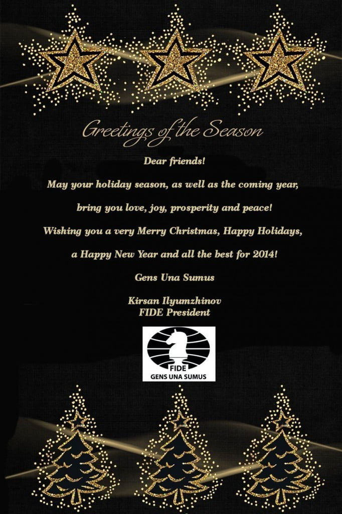 Season's greetings 2014